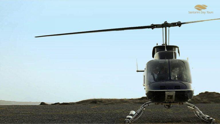 Santorini to Paros Helicopter Flight