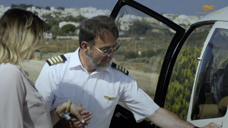 Santorini to Antiparos Helicopter Flight