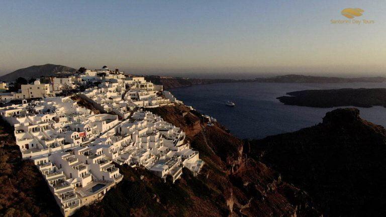 Santorini to Folegandros Helicopter Flight