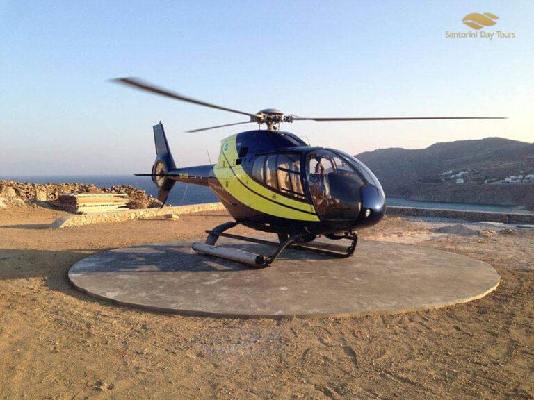 Santorini to Heraklion helicopter flight
