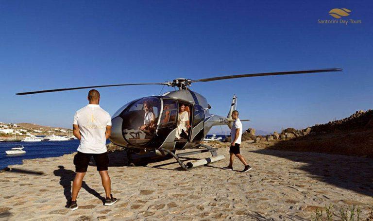 Milos to Santorini Helicopter Flight