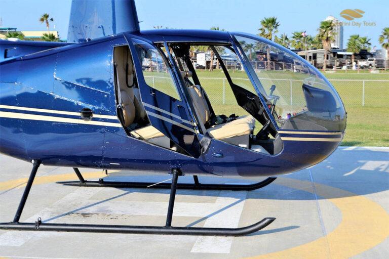 Santorini to Amanzoe Helicopter Flight