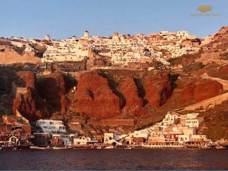 Golden Route: Santorini Sunset Cruise with Ammoudi bay views