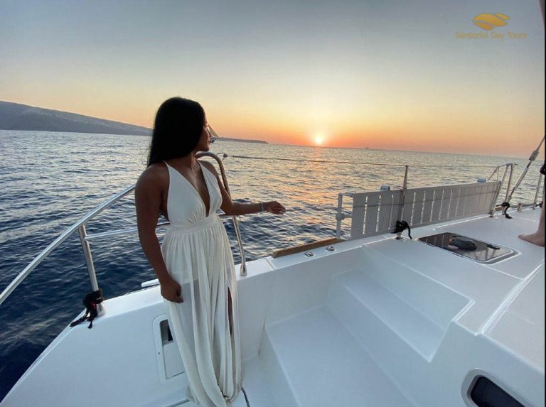sunset cruise in Santorini